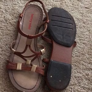 Cute brown strappy sandals
